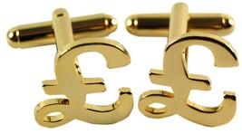 gold pound Sign Cufflinks design Cufflinks in gift box cuff links