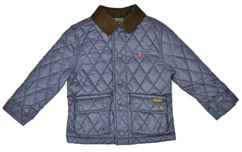 Polo Ralph Lauren Kids Boys Water-Resistant Quilted Jacket, Navy, Size 6... - $94.04