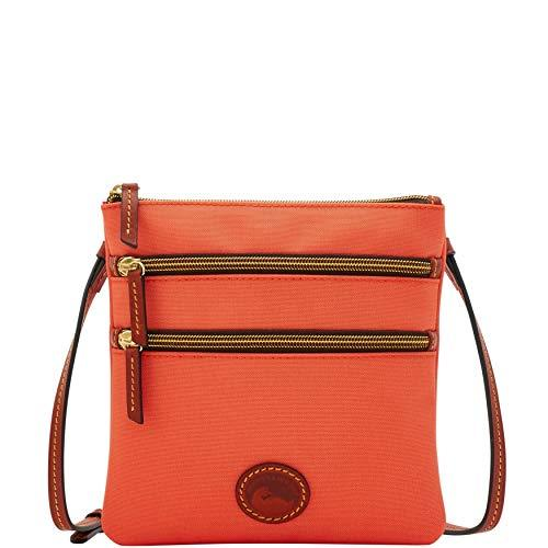 Dooney & Bourke Nylon North/South Triple Zip Crossbody Coral