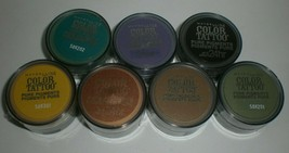 Maybelline Color Tattoo Pure Pigments By Eyestudio Eyeshadow Set Lot of ... - $15.88