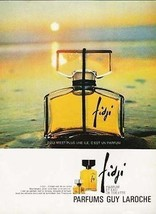 Fidji Parfums Guy Laroche 1967 French Perfume AD Fidji Perfume Bottle Su... - $12.99