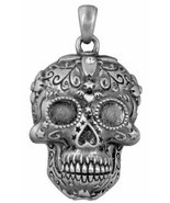 Ebros Day Of The Dead Tribal Sugar Skull Pendant Jewelry Necklace Lead Free - £15.98 GBP