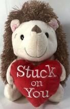 Hallmark STUCK ON YOU PORCUPINE Valentine Red Heart Plush Soft Toy Stuffed - $15.29