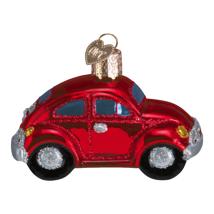 OLD WORLD CHRISTMAS RED BUGGY VW BUG GLASS CHRISTMAS ORNAMENT 46002 - $11.88