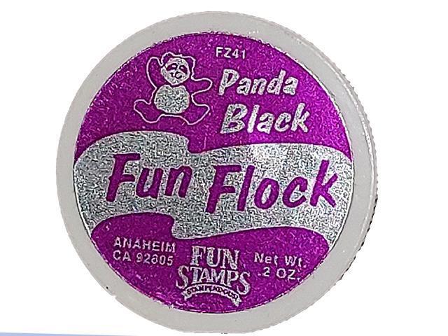 Stampendous-Fun Flock-Flocking Powder-Panda Black- #FZ41