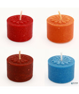 36 Colored & Scented Wax Deep Tealight Candles, Fall & Halloween Collection - $27.56