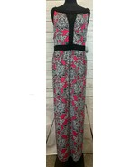 Catherines Pink Floral Pattern Sleeveless Maxi Dress 3X 26/28W NEW NWT  - $44.44