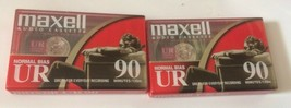 Maxell Audio Cassette Tapes Lot of 2 90 minute tapes Normal Bias - $5.45