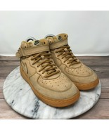 Nike Air Force 1 Mid WB PS Flax Wheat Brown Lace Up Sneakers Youth Size 2.5 - $49.95