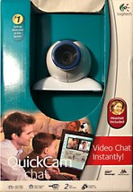 logitech quickcam chat webcam free pair of headphones inside - $10.00