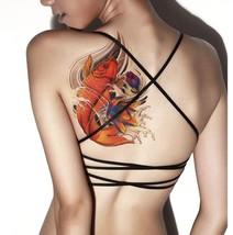 TAFLY Women Sexy Body Art Extra Large Dimension Fish Transfer Temporary Tattoos - $12.74