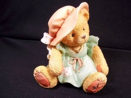 Cherished Teddies bisque figurine A Mother's Love Bears all things 1993 ... - $6.76