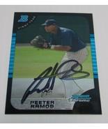 Peeter Ramos Signed 2005 Bowman Chrome Card Autographed San Diego Padres - $4.50