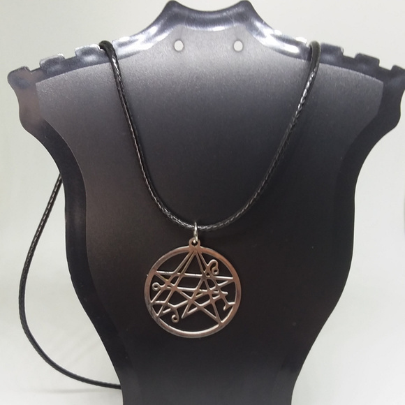 Necronomicon Stainless Steel Charm Necklace