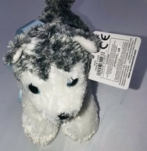 "Aurora Mini Flopsie Mush The Husky 8"" Stuffed Animal 31293 W/ Tag - $19.79"