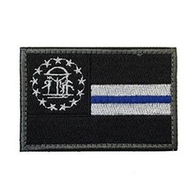 SpaceAuto Georgia State Flag Tactical Morale Patch Thin Blue Line Army Patches - $17.99