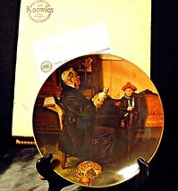 """1977 """"The Doctor and the Doll"""" Norman Rockwell Plate with Box ( Royalwood China) image 6"""