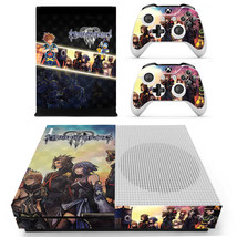 Kingdom Hearts 3 decal xbox one S console and 2 controllers - $15.00