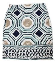 Ann Taylor LOFT Women's Cotton Skirt Size 4 Geometric Pattern - $12.59