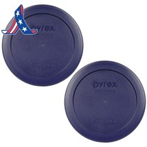 Pyrex Blue 2 Cup Round Storage Cover #7200-Pc For Glass Bowls 2-Pack - $8.28