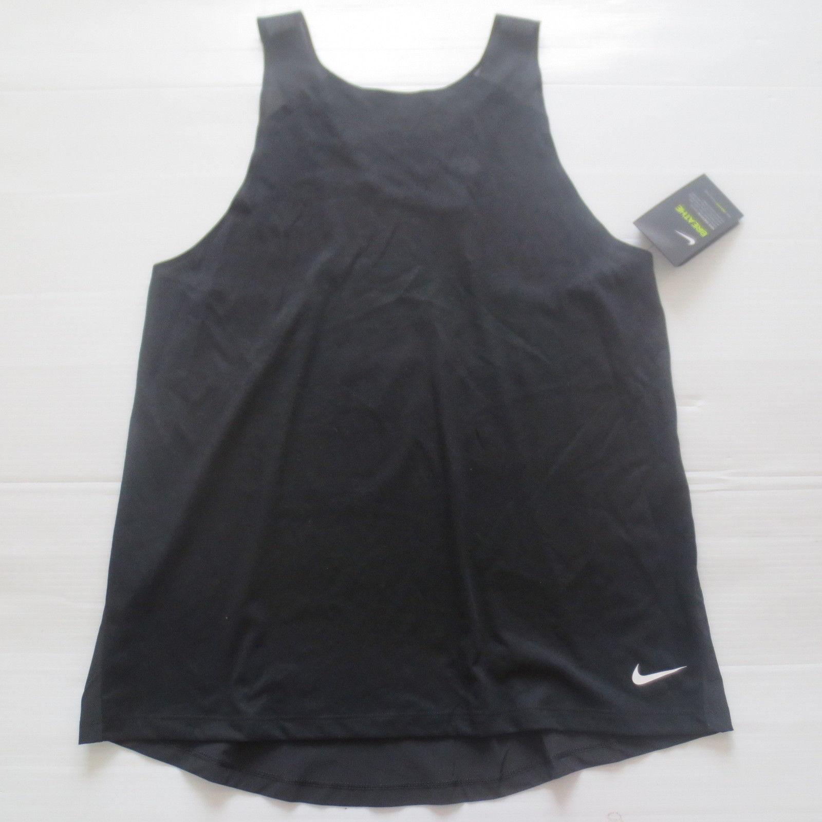 Nike Women Breathe Tank Top Shirt - 862774 - Black 010 - Size L - NWT