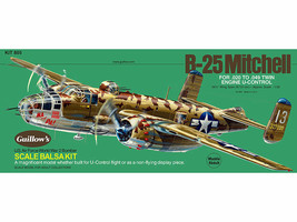 WWII North  Am. B-25 Mitchell Guillow's Model Airplane Kit Balsa Wood  G... - $66.33
