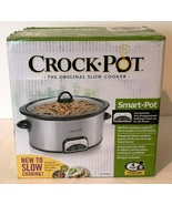 Crock Pot Smart Pot Slow Cooker 4 Quart Silver Stainless Steel Black - $44.99