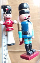 Vintage Christmas Ornaments Wooden Soldiers Christmas Tree Ornaments set... - £19.28 GBP