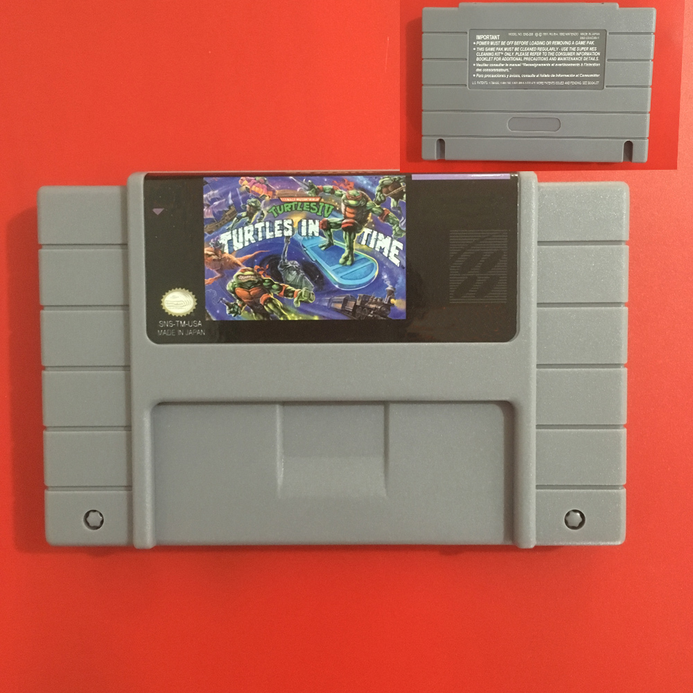Turtles IV Turtles In Time SNES Super Nintendo Video Game USA Version