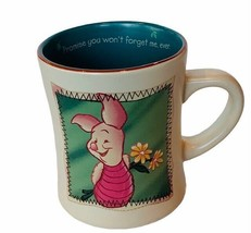 Winnie Pooh Piglet mug cup Walt Disney Promise dont Forget me gift glass... - $28.98