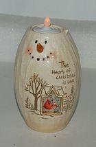 Bright Ideas HF086 Snowman Tea Light Holder The Heart of Christmas  Love Cardina image 7