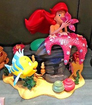 disney parks little mermaid medium figure ariel and flounder new in box - $189.14