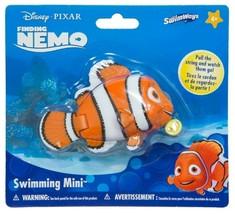 SwimWays Disney Pixar Finding Nemo Swimming Mini Pull String Pool Bath Toy New