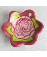 Pink Rose with Green Leaves Candy Dish - $11.87