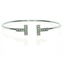 0.40ct Naturale Colore F Diamanti Braccialetto Bracele T Stile 18K Solid... - $3,441.39