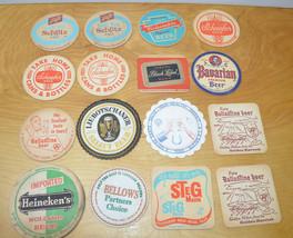 Vintage BEER COASTER Lot BREWERIANA Advertising 1950's Schlitz Bavarian ... - $23.22