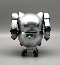 2-Sided Silver Mecha Cat image 2