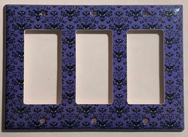 Haunted Mansion purple wallpaper Light Switch Outlet wall Cover Plate Home Decor image 6