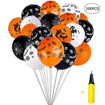 Halloween Balloons Decorations - 100 Pieces 12 Inches Pumpkin Bat Specte... - £15.76 GBP