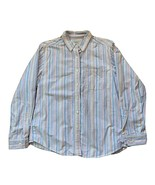 LL Bean Womens Pastel Striped Oxford Button Down Shirt Size Small 100% C... - $29.69
