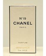 Chanel No 19 Parfum by Chanel 7,5ml 1/4 Fl. Oz. Spray Pure Perfume Woman... - $349.90