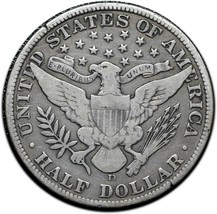 1912D Silver Barber Half Dollar Coin Lot A 353 image 2