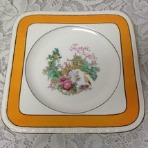 Vintage, Rare, Myott, England,Variant, Yellow Trim Gaudy Blue Willow, 8in Plate - $28.45