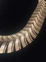 Vintage 60s Segmented Gold Spine Choker Necklace image 2