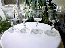 Set of 4 Libbey Rock Sharpe Jefferson Clear Water Glasses - Retired - $31.68