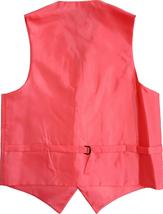 Men's Solid Color Adjustable Dress Vest & Neck Tie Set for Suit or Tuxedo image 7