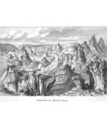UTAH Rocky Mountains Badlands Terres Mauvaises - 1883 German Print - $21.60