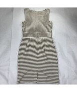 Ann Taylor LOFT Women's Size 0 Brown White Striped A Line Dress - $26.71