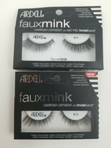 Ardell Eyelashes Faux Mink 811- Black Fake Lashes, Knot Free (Lot of 2  - $9.99