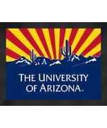 Arizona Wildcats 13 x 16 Uscape with Retro Skyline Framed Print  - $39.95